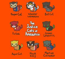 The Justice Cats of Ameowrica Kids Tee