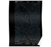 USGS Topo Map Washington State WA Brief 20110601 TM Inverted Poster