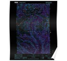 USGS Topo Map Washington State WA Shuksan Arm 243703 1989 24000 Inverted Poster