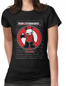 Pissed OFF Panda Hates... Womens Fitted T-Shirt