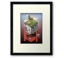 World of Blocks Framed Print
