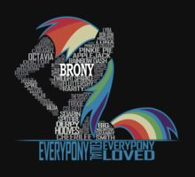 Brony Typography Kids Clothes