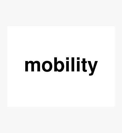 mobility Photographic Print