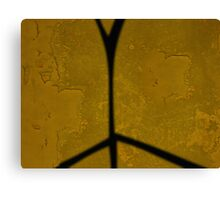 Yellow Wall With Shadow  Canvas Print