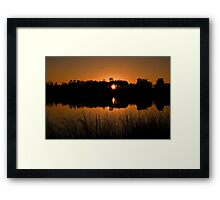 """ Sunset on Sterling Pond - Sterling, NY "" Framed Print"