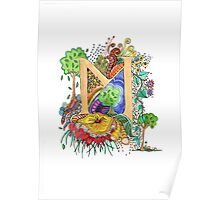 M - an illuminated letter Poster