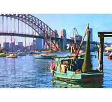 Sydney Harbour Bridge from McMahons Point, 1969 Photographic Print