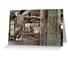 Abandoned Architecture Greeting Card
