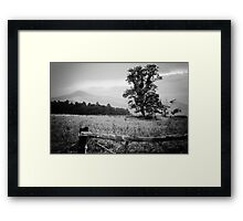 Cades Cove B&W Smoky Mountains Valley 1  Framed Print