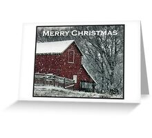 Barn Bluster Christmas Card Greeting Card