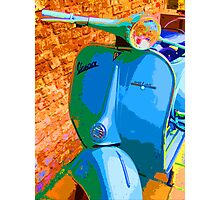 Rainbow Vespa Photographic Print
