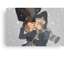 Wintery kisses Metal Print