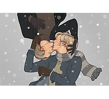 Wintery kisses Photographic Print
