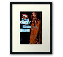 A Texan Outside of Top Notch. Go Longhorns. Framed Print
