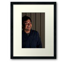 Eric Cruz in Mid Laugh Framed Print