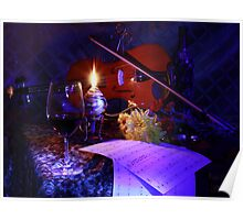 violin and wine (Canon 60D) Poster