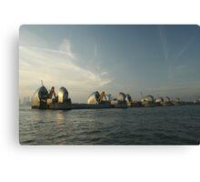 Thames Barrier Canvas Print