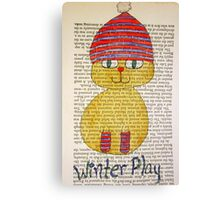 Playful Winter Kitty Canvas Print