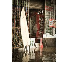 Coca-Cola Surfboard Photographic Print