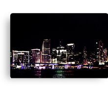 """Miami Nite Lite"" Canvas Print"