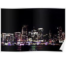 """Miami Nite Lite"" Poster"