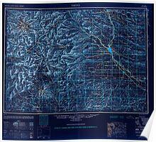 USGS Topo Map Washington State WA Yakima 244823 1950 250000 Inverted Poster
