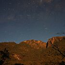 Mt Buffalo Under A Full Moon by Lindsay Knowles