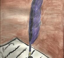 Purple Quill Love Letter by RobynLee