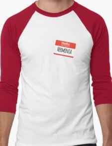 Hello My Name is Herminia Men's Baseball ¾ T-Shirt