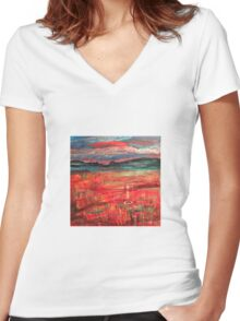Untitled landscape Women's Fitted V-Neck T-Shirt