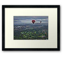 Melbourne Morning Balloon Flight Framed Print