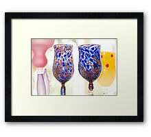 Colorful Glasses Framed Print