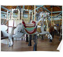Carousel Crane Horse - Butchart Poster