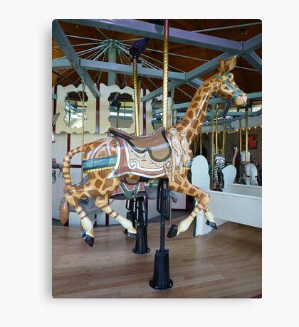 Carousel Giraffe - Butchart Canvas Print