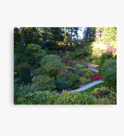 Sunken Garden - Butchart Canvas Print