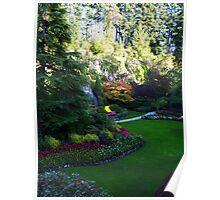 Sunken Garden too - Butchart Poster