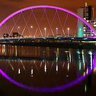 Glasgow's Squinty Bridge at Night by David Alexander Elder