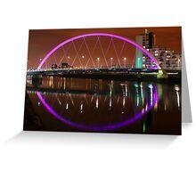 Glasgow's Squinty Bridge at Night Greeting Card