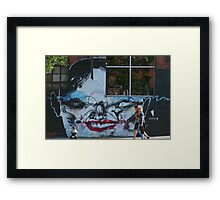 Brooklyn - Face by Anthony Lister Framed Print