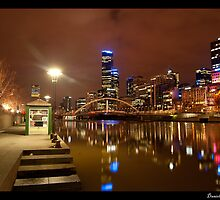 Melbourne at Night by Danielle  Miner