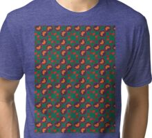 Green autumn pattern Tri-blend T-Shirt