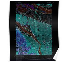 USGS Topo Map Oregon OR Portland 281133 1961 24000 Inverted Poster