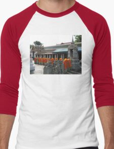 Kasaya Off the Backs of Buddhist Bhikkhu Men's Baseball ¾ T-Shirt