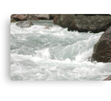 Langtang Trisuli river Canvas Print