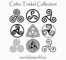Celtic Triskell Collection Dark by Mandala's World