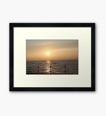 Saturday Evening Framed Print