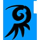 Emblem black and blue by Cranemann
