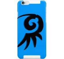 Emblem black and blue iPhone Case/Skin