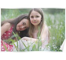 in a field of spring flowers .............. Poster