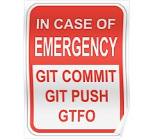 Git Emergency Poster